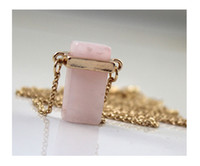 green jade stone - Newest Beautiful band rose quartz and green jade stone pendants Drop necklaces For Women Statement Necklace wholesales freeshipping