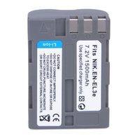 Wholesale mAh EN EL3E ENEL3E Li ion Camera Battery for Nikon D30 D50 D70 D90 D70S D1054