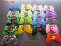 achat en gros de contrôleur ps4 couvercle du boîtier-Colorful gamepad Soft Silicone Gel Housse en caoutchouc Case Grip Cover pour Xbox One Xbox 360 PS3 PS4 Wireless Controller Livraison gratuite