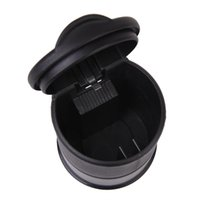 Wholesale SAF Hot Plastic Cigarette Ashtray with Lid for Office Home Car Black