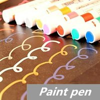 Wholesale 8 Paint pen marker Highlighter pen for album foto scrapbooking Liquid chalk pen Novelty Stationary School supplies