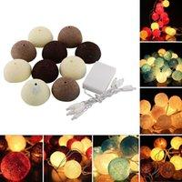 10 Coton hydrophile Aladin LED romantique magnifique fée Lumière cordes <b>Lantern</b> Coffee Party mariage d'arbre Décor