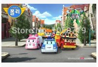 age - 4PCS SET New Brand Baby Toys Korean Anime Robocar poli transforming robot Toys Thomas Toys Pink And Green Gift For Kids