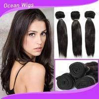 Cheap Chinese Hair Brazilian virgin hair wavy Best Straight 100% human hair Virgin human hair weave