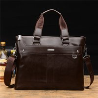 Cuoio Mens uomini borsa a mano di moda e Laptop Bag Hot Mens morbido e Messenger Bag impermeabile