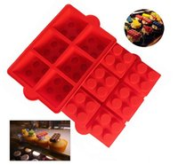 candle mold silicone - Huge Size inch Lego Bricks Style Silicone Cake Mold Chocolate Jello Mold Candy Soap Candle Crayons Maker Free DHL Fedex