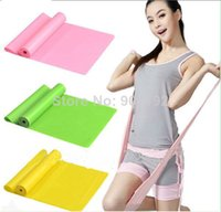 Cheap 300pcs lot Wholesale Natural Tension Health Elastic Exercise Sport Body Latex Stretching Belt Pull Strap Yoga Resistance Bands
