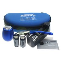 Cheap Wholesale-2015 the hottest GENUINE kamry K1000 E-Pipe kit 18350battery k1000 atomizer 7 color free ship