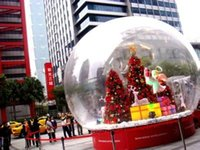 Wholesale Specialty Store inflatable snowflake ball or inflatable Snowdome M diameter Cartoon background exhibition start business indispensable