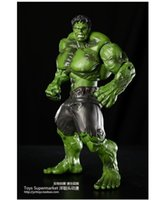 Wholesale Hulk doll Real film anime Birthday new year gift model figures action figure toy super hero The Avengers big size cm