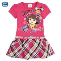 Wholesale Dora girl Dress Kid Clothing Children s Wear NOVA Fashion New Summer dress for Girls Toddler Princess Dress baby girl H4709