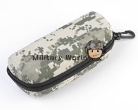 Wholesale Tactical MOLLE Outdoor Glasses Box With Buckle ACU Digital Woodland Eyewear Accessory Not Shockproof order lt no track