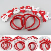 best ball head - Best Gift Christmas Headband Lovely Santa Snowman Elk Glove Head Hoop Hair Band for Festival Party Ball Performance Supplies Gift