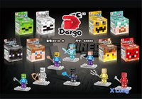 Wholesale 2015 new arrive New Crystal Minecraft Building Block Toys Best Gift with colour box in stock now D107