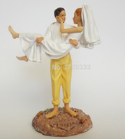 beach figurines - 48pcs Wedding favor and decoration Popular Just Married Beach Couple Figurine good cake decorations