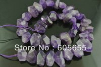Wholesale High Quality Natural Amethyst Chunk Stone Loose Square beads for Fashion Jewelry