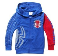 Wholesale Spiderman Spring Autumn Long Sleeve Hoodies Kids Boys Cotton Outwear Clothes Children Jacket Clothing Marvel Movies Printed