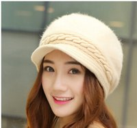 beret manufacturers - Women autumn winter beret five color design knitted hat high quality hats for women manufacturers direct products