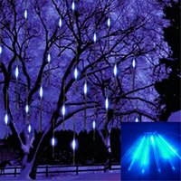 Wholesale 2016 New cm Meteor Shower Rain Tubes Led Light Lamp V EU US Plug Christmas String Light Wedding Garden Decoration Xmas
