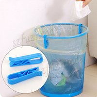aluminum garbage cans - 2Pcs Durable Garbage Can Bag Clips New Cheap Mini Waste Bin Clip Home Useful Tools AIA00408