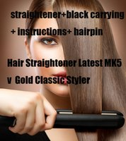 Cheap Midnight Colletion Flat Iron Professional Straightening Irons Gold Hair Straightener Styling Tools no box