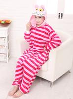 Wholesale HOT Unisex Adult Pajamas Cosplay Anime Costume Animal the Cheshire Cat Onesie Sleepwear onesie for adult
