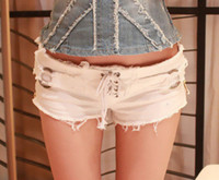 Wholesale Summer style jeans shorts Womens New arrival White Black Side zipper Sexy Denim shorts for Women short jeans feminino