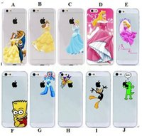 Plastic beauty beast cover - Beauty and the Beast Belle PRINCESS LURORA Hard PC Clear matte case for iphone s C S plus case back cover p058
