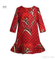 best dress dot - Wl monsoon Dresses Best Sale Girls Middle Sleeve Polka Dot A line Dress European Style Childrens Spring Clothing Kids Elegant Dress