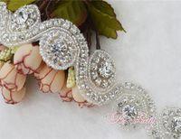 Wholesale Rhinestone Applique Accessories Sold By Yard handmade for bridal sash headband rhinestone trims for Holiday decoration wedding decoration C0
