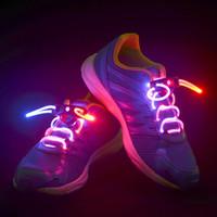 outdoor sports LED Shoelace  Hot selling LED Flashing Shoe Lace Fiber Optic Shoelace Luminous Shoe Laces Light Up Shoes lace 10pcs(5pair) free shipping