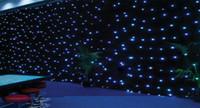 Wholesale RGBW star cloth four colors lighting x4 meter LED Star Curtain wedding event dj nightclub Stage Backdrop