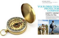 vintage ring - Pocket Brass Watch Vintage Antique Style Ring KeyChain Camping Hiking Compass Navigation Outdoor Tool