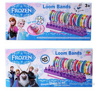 Cheap 10sets frozen loom bands rainbow loom toys Kit looming kits Rubber band bracelets gifts for children anna elsa Cheap 40070814678 201410hql