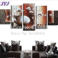 Cheap Free Shipping !!! 5PCS,Real Oversized Handmade Modern Oil Painting On Canvas Wall Art ,Top Home Decoration JYJHS027