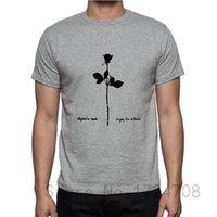 album cover shirts - Summer New Depeche Mode Violator Album Cover Music T shirts Men Short Sleeve Cotton Tops Tees T Shirts Tshirts