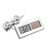 Wholesale Potable Solar Powered Digital Thermometer M Cable LCD Thermometer Sensor Home Car Outdoor Thermometer BHU2