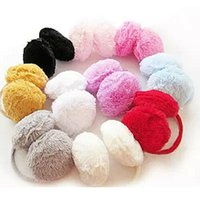 Wholesale Fashion Elegant Women Ear Muffs Ladies Colorful Plush Fluffy Warm Earmuffs Earlap Ear Winter Hot