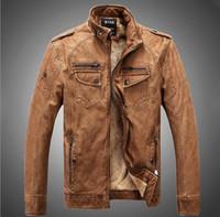 Wholesale Hot High quality new winter fashion men s coat Faux Leather men s jackets men s leather jacket