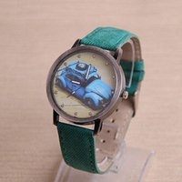 acrylic paint for cars - 2015 Promotional Gifts Retro Car Painted Women Leather Watch Canva WristWatch GG9283 for Unisex Cool Car Print