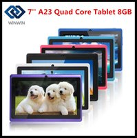 Wholesale NEW Cheap inch Q88 Allwinner A33 Quad Core Tablets Google Android Tablet GB Dual cameras WiFi