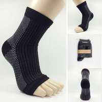 Wholesale 1pc Foot Compression Sleeve Anti Fatigue Circulation Ankle Support Brace Swelling Relief Protector Hot SaleL3