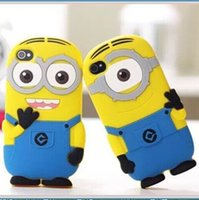 For Apple iPhone minions case - 3D Cartoon Despicable Me Minions Minion M2 Silicone Case Cover For iPhone S S plus samsung galaxy note S4 S5 s6 edge ipod touch