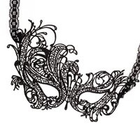 masquerade dresses - Hot sales Black Sexy Lady Lace Mask Cutout Eye Mask for Masquerade Party Fancy Dress Costume