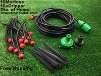 automatic garden hose - 10m Drippers Micro Dripper Irrigation Kits Plant Self Watering System Garden automatic drip Hose