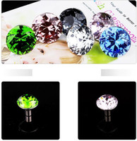 Cheap 10pcs lot wholesale 30mm Diamond Shape Crystal Glass Pull Handle Cupboard Cabinet Drawer Door Furniture Knobs