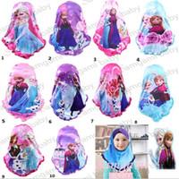 beading daily - Children cotton Muslim scarfs handmade beading scarf Spangle embroidery shawl Acrylic scarf Kids Head scarves hijab