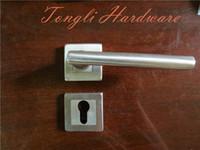 big door handles - 2015 Big sales for stainless steel silver solid cast lever room door handle direct selling kg per pair