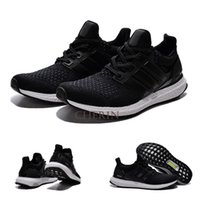 Cheap 2 Colours (With Shoes Box) 1:1 High Quality Ultra Boost All White All Black Shoes Men Women Sport Sneakers Shoes