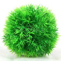 aquatic plants fish - Artificial Aquatic Plastic Plants Aquarium Grass Ball Fish Tank Ornament Decor